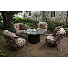 costco patio furniture fire pit table