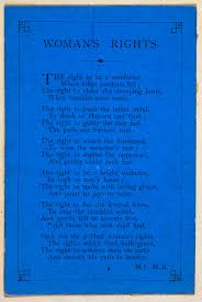 gender roles in the 19th century the british library a 19th century poem on w s rights page single sheet