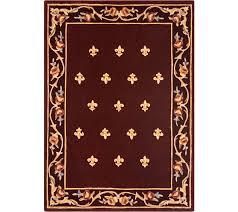 rug qvc royal palace rugs elegant royal palace special edition 5 x7 fleur de lis