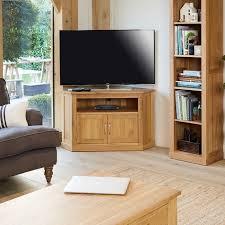 image baumhaus mobel. Baumhaus Mobel Oak Corner Television Cabinet (COR09C) Image A