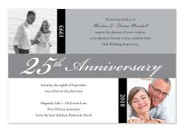 25th marriage anniversary invitation cards 25th wedding silver wedding anniversary invitation cards