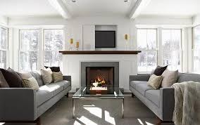 gri koltuklarla dekorasyon yap u0131 dekorasyon 360 tv cabinet over fireplace