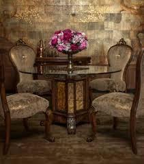 platine de royale round pedestal dining set in espresso dining setdining chairsdining tableelegant homespedestalroom