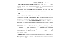 Labour agreements enable approved businesses to sponsor overseas workers when there is a demonstrated need that cannot be met in the australian labour market and standard temporary or permanent migration arrangements are not appropriate. Free 7 Sample Contract Forms In Ms Word Pdf Excel