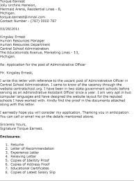 Best Ideas Of Cover Letter Resume Administrative Officer Sample In