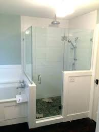 shower wall enclosures wall to wall shower enclosure shower door with two half walls twin bay