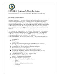 Nist 800 88 Certificate Of Destruction E Waste Security