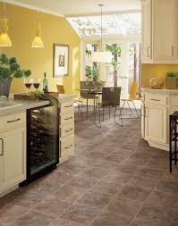 vinyl flooring kitchen white cabinets on amazing sheet square tile floors yellow shade pendant lamps decorative indoor plants small refrigerator colors
