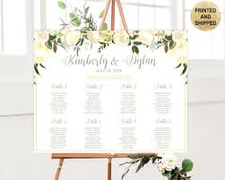Greenery Seating Chart In 2019 Wedding Guest Table