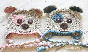 Crochet Dog Hat Pattern Mesmerizing Crochet Puppy Hat Pattern Repeat Crafter Me