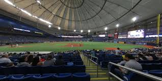 Rays Seating Chart With Rows Tropicana Field Section 122 Tampa Bay Rays Rateyourseats Com