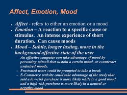 4 Affect, Emotion, Mood ...