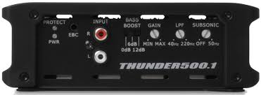 thunder500 1 thunder series 500 watt class d mono block amplifier thunder500 1 mono block car audio amplifier controls