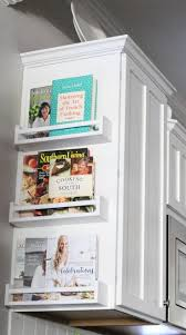 23 Neat Clutter-Free Kitchen Countertop Ideas to Keep Your Kitchen in  Tip-top Shape. Cookbook Cabinet End Shelves