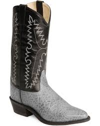 zoomed image old west men s elephant print western boots grey
