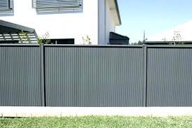 corrugated metal fence perfect fencing fences sheet panels for designs cost plans