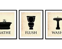 bathe vintage bathroom wall art flush wash sample decoration themes etsy printable excellent on vintage bath wall art with wall art decor ideas bathe vintage bathroom wall art flush wash