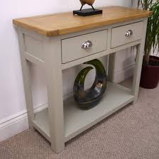 oak console tables oak hall tables. Aspen Painted Oak Console Table With Shelf Drawer Hall Thesoundlapse Solid Bedside Tables Uk End Bookcase Surrey Sale Extending Shopping For Corner Unit A