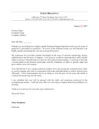 Cover Letter For Technical Job The Letter Sample
