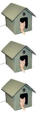 beds heated kitty house outdoor cat warm waterproof shelter garage pet condo dog bespoke outdoor cat run enclosure pen waterproof house