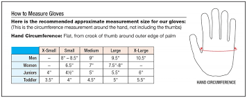 Kids Glove Size Chart Images Gloves And Descriptions