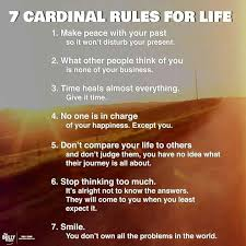 Seven Cardinal Rules Of Life Quotes Magnificent 7 Rules Of Life Quote