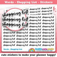 Functional Words List 40 Cute Shopping List Words Banners Functional Planner Stickers Filofax Erin Condren Happy Planner Kawaii Cute Sticker Uk Foil