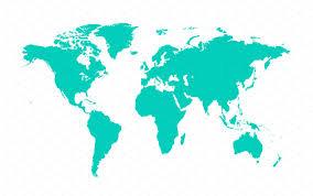 flat world map  pointcardme