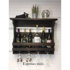 wooden wine rack wall mounted wine rack handmade rustic home decor sleek
