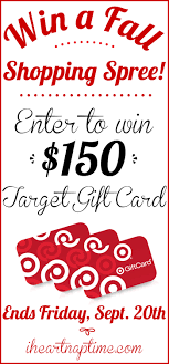 Enter to win a $150 TARGET gift card on iheartnaptime.com ...