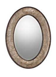 Oval Mirrors Bathroom Bathroom Beveled Oval Bathroom Mirror Design With Brushed Nickel