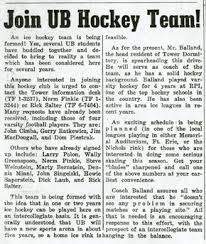 join ub hockey team essays ub sports history university at  join ub hockey team