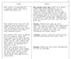 av script storyboard and script