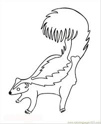 Small Picture Skunk Coloring Page Free Skunk Coloring Pages ColoringPages101com