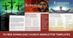 Microsoft Templates For Publisher 15 Free Church Newsletter Templates Ms Word Publisher