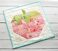 retro mama - mini strawberry quilt - pattern is in 'Farm Girl ... & Strawberry Quilt Block Pattern ~ Mary Wald's Place - @ retro mama - mini  strawberry quilt - pattern is in 'Farm Girl Vintage' by Lori Holt Adamdwight.com