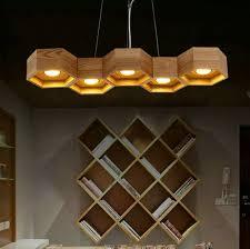 modern wood chandelier