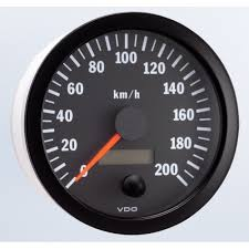 vdo mm electronic speedometer km h