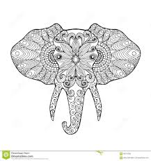 fascinating abstract elephant coloring pages for s appealing head image of