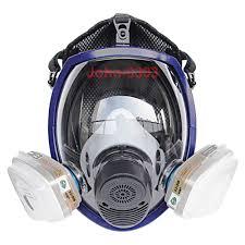 chemical gas mask 7 pcs full face respirator gas mask