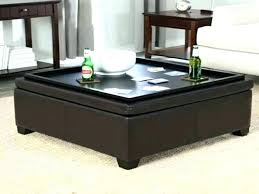 storage ottomans trays leather ottoman with amazing modern coffee table extra wide square tray storage ottomans trays