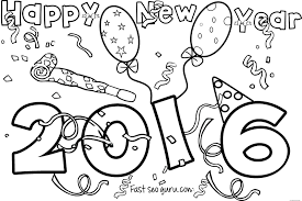 Happy New Year Coloring Book With Years Pages Save Energy Sheets