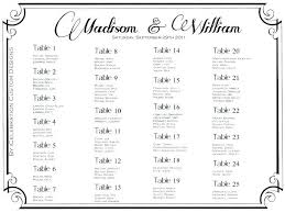 free seating chart template for wedding reception plan word table charts