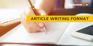 article writing format for cl 11 and