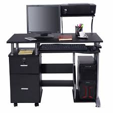 home study furniture. Goplus Computer Desk PC Laptop Table WorkStation Home Office Furniture Modern Study Writing Desktop With Printer
