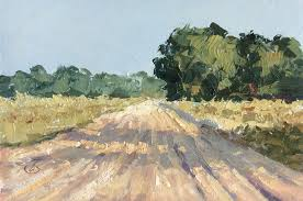 here for this 6x4 oil painting country road for this little treasure i used the same pocket sized painting kit that i ve shown on my blog in an