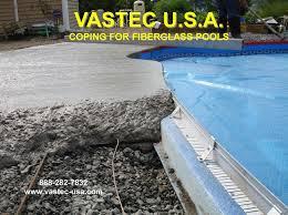 fiberglass pool edge coping system