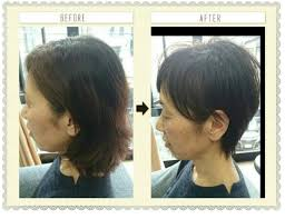 アラフィフ50代の女性で美人はショートヘアロングヘア縮毛矯正