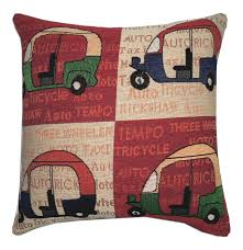 ehc indian auto rickshaw decorative sofa bed cushion cover pillow case