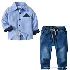 Pant And Shirt 2019 2018 New Styles Europe Baby Boys Clothes Geometric Pattern T